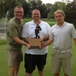 Tournament winners,  Rick Mayernik, John 'Big John' Ellis, and Anthony Mieske