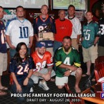 "Prolific Fantasy Football League (Denver, CO)- Champ Mike Wilkinson ""The K-Gun"" claims the trophy"