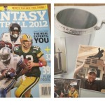 AWFUL league champ, Frank Little makes it in the pages of the USA TODAY's fantasy football magazine with the Throwback trophy.