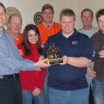 """I think I speak for all of us when I say that this trophy really suits us.""  David Heinz, Heinz Fantasy Football League"