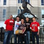 Anthony Leung and the guys from Bill Swerski's Superfans Fantasy Basketball League