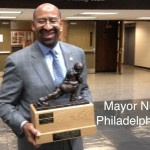 "The Mayor of Philadelphia-Michael Nutter stands in for Brian McCloskey, repeat champ of the ""Circle of Trust"" Fantasy Football League."