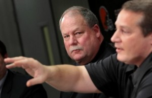 Mike Holmgren with Eric Mangini