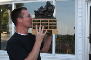The Armchair Quarterback- fantasy football trophy