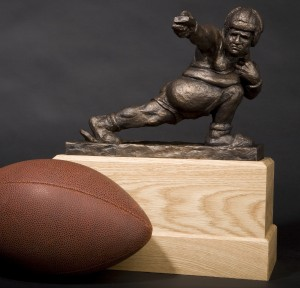 The Throwback-fantasy football trophy